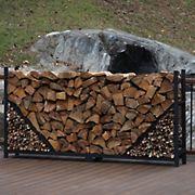 Shelter-It 8' Straight Firewood Crib - Black