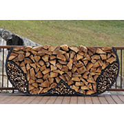 Shelter-It 8' Double Round Firewood Crib - Black