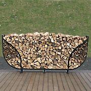 Shelter-It 10' Slanted Firewood Crib - Black