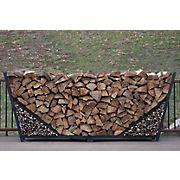 Shelter-It 8' Double Leaf Firewood Crib - Black