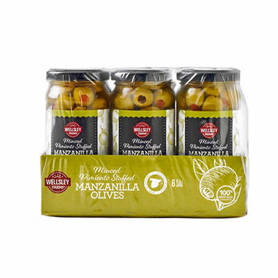 Wellsley Farms Spanish Stuffed Manzanilla Olives, 8.3 oz.