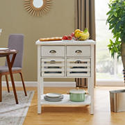 SEI Seryrillo Kitchen Island - White