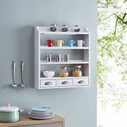 SEI Seryrillo Wall-Mounted Organizer - White
