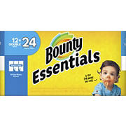 Bounty Essentials Select-A-Size Double Roll Paper Towels, 12 pk. - White