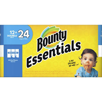 Bounty Essentials Select-A-Size Double Roll Paper Towels, 12 pk. - Whi