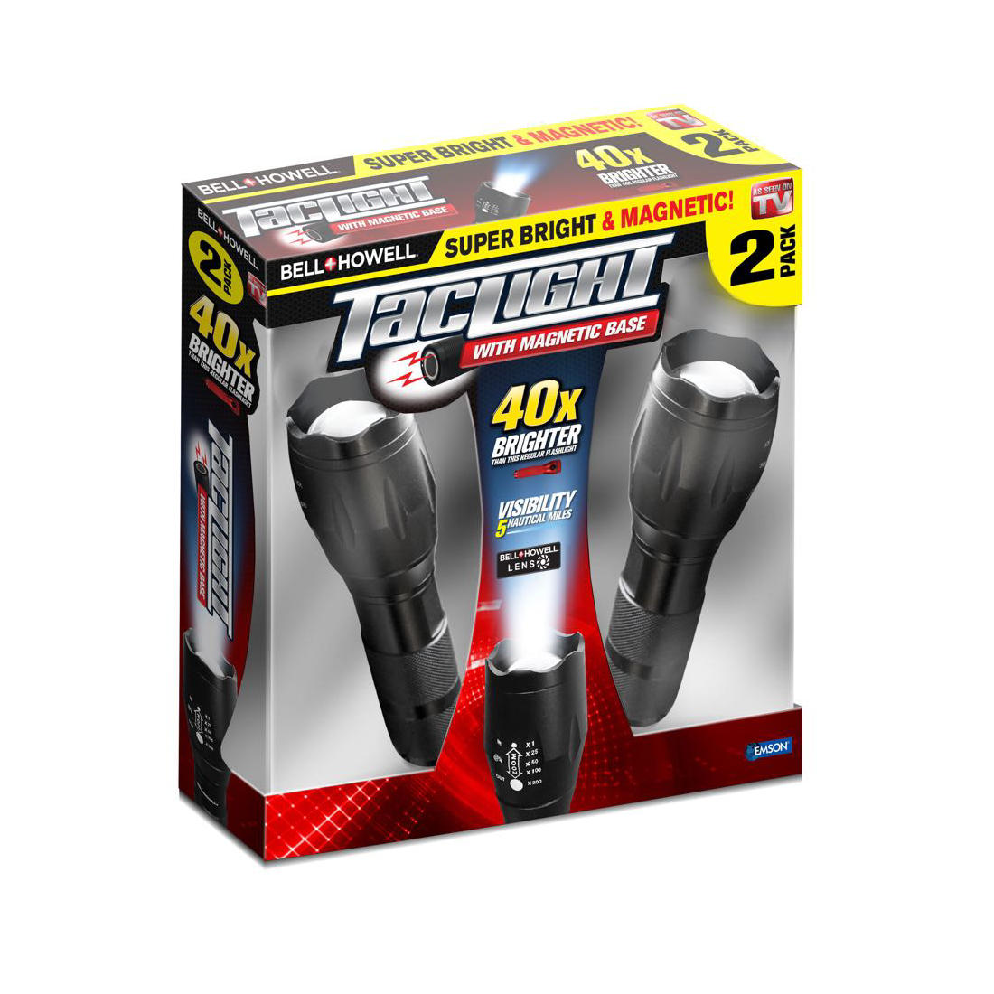 Bell+Howell TacLight, 2 pk