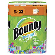 Bounty Super Roll Paper Towels, 12 pk. - Print