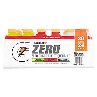 Gatorade G Zero Variety Pack,  24 pk./20 oz.