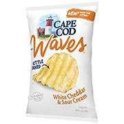 Cape Cod Waves White Cheddar & Sour Cream Potato Chips, 14 oz.