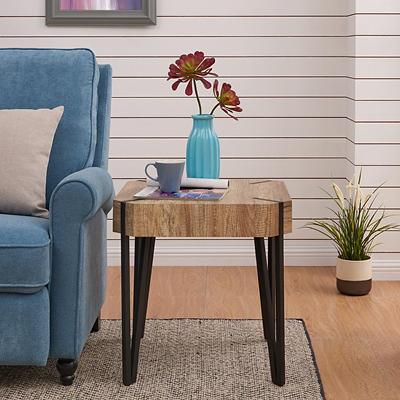 Handy Living Dawn Square End Table - Aged Oak