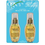 OGX Renewing + Argan Oil of Morocco Weightless Healing Dry Oil, 2 pk./4 oz.