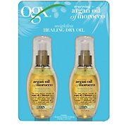 OGX Renewing + Argan Oil of Morocco Weightless Healing Dry Oil, 2 pk./4 oz.