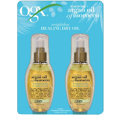 OGX Renewing + Argan Oil of Morocco Weightless Healing Dry Oil, 2 pk./