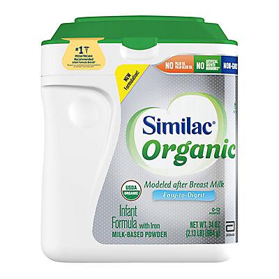 Similac Organic Infant Formula with Iron Powder, 34 oz.