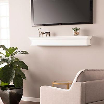 "SEI Adair 48"" Floating Wall Shelf - White"
