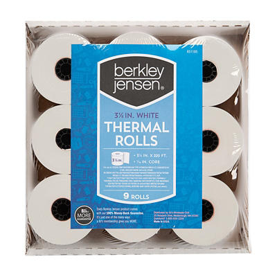 Berkley Jensen Thermal Paper Rolls, 9 pk.
