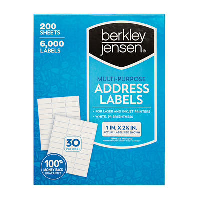 Berkley Jensen Multi-Purpose Address Labels, 6,000 ct.
