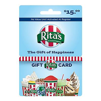 $15 Rita's Italian Ice Gift Card