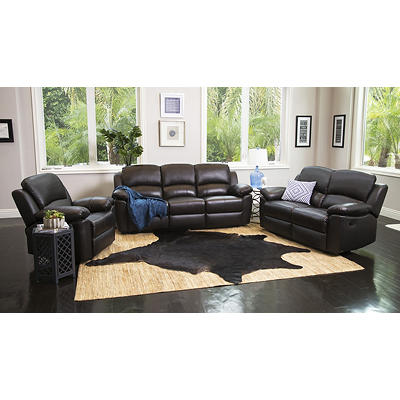 Abbyson Living Toscana 3-Pc. Reclining Set - Espresso Brown