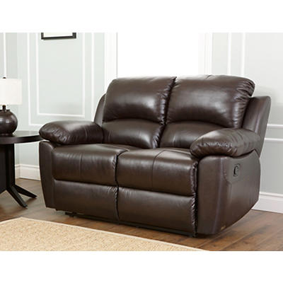 Abbyson Living Toscana Reclining Loveseat - Espresso Brown