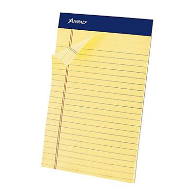 "Ampad 5"" x 8"" Perforated Medium-Ruled Pad, 50 Sheets, 24 pk."