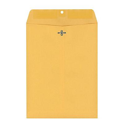 "Ampad 9"" x 12"" Kraft Clasp Envelopes, 100 ct. - Light Brown"