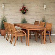Amazonia Alessio 7-Pc. Eucalyptus Patio Dining Set - Natural