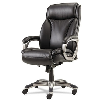 Alera Veon Series Executive High Back Leather Chair - Black