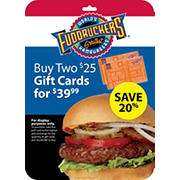 $25 Fuddruckers Gift Card, 2 pk.