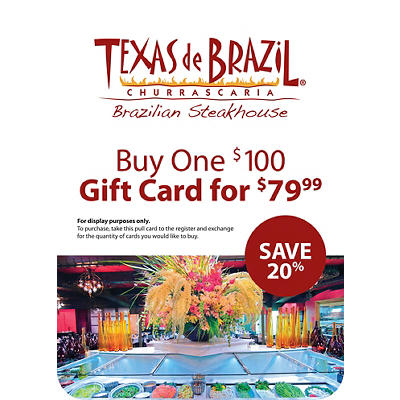 $100 Texas de Brazil Gift Card