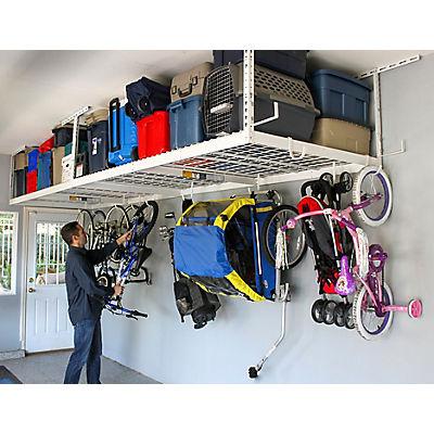 "SafeRacks 4' x 8' Overhead Storage 2-Rack Kit, 12"" - 21"" Ceiling Drop"