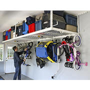 "2-Rack Combo SafeRacks 4' x 8' Overhead Storage Kit with 24"" drop"