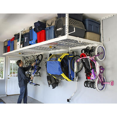 "SafeRacks 4' x 8' Overhead Storage 2-Rack Kit, 24"" - 45"" Ceiling Drop"