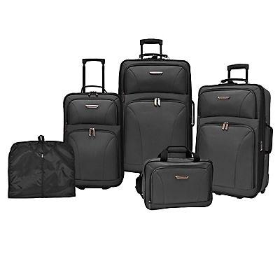 Traveler's Choice Versatile 5-Pc. Luggage Set - Black