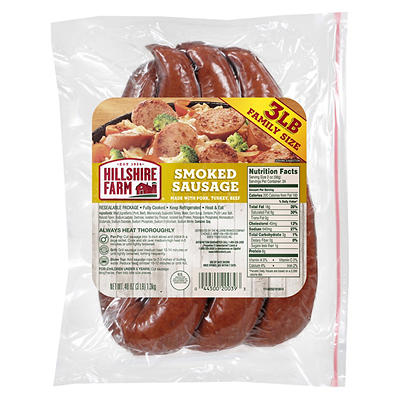 Hillshire Farm Hot Smoked Sausage Links, 12 ct.