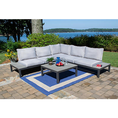 Tortuga Outdoor Lakeview 4-Pc. Modern Sectional Set - Gray