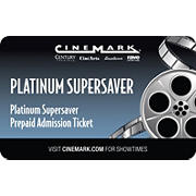 Cinemark USA Platinum Supersaver Prepaid Admission Ticket, 2 pk.