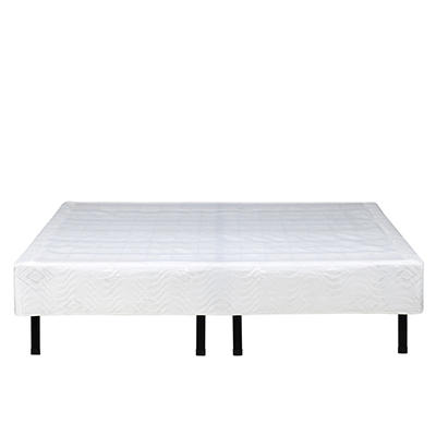 Contour Rest Dream Support Queen Size Metal Platform Frame Cover - Whi