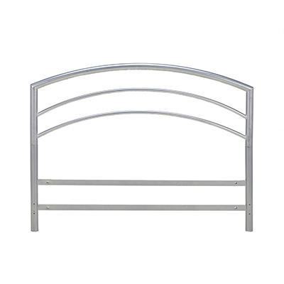 Contour Rest Dream Support Deluxe King Size Metal Headboard - Silver
