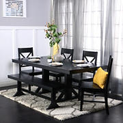 W. Trends 6-Pc. Dining Set - Black