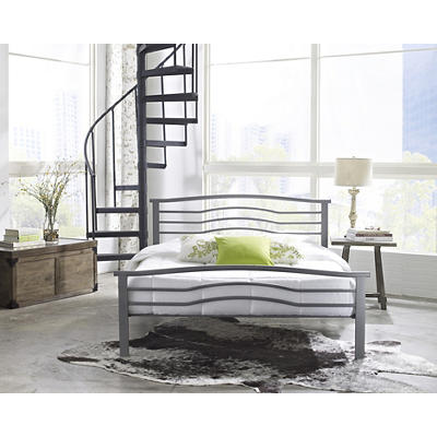 Contour Rest Waverly Queen Size Metal Bed Frame - Silver