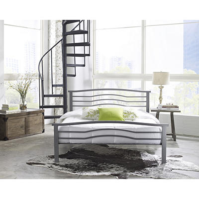 Contour Rest Waverly Full Size Metal Bed Frame - Silver