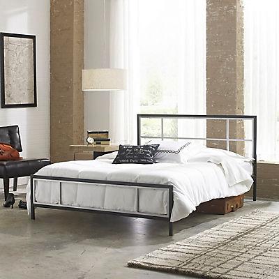 Contour Rest Chase Full-Size Metal Platform Bed Frame - Black/Silver
