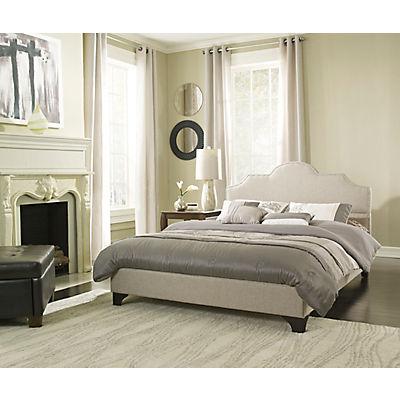 Contour Rest Vivian Full-Size Upholstered Linen Platform Bed Frame - T