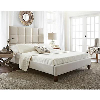 Contour Rest Evita Queen-Sized Upholstered Linen Platform Bed Frame -