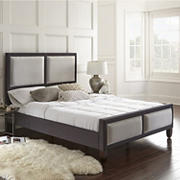 Contour Rest Tobias Queen-Size Wood and Fabric Platform Bed Frame - Gray