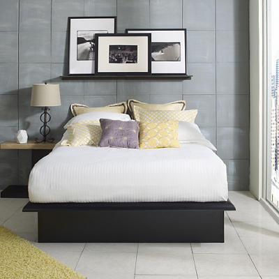 Contour Rest Domenic Full-Size Metal Platform Bed Frame - Black