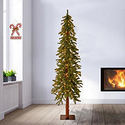 National Tree Company 6' Pre-Lit Artificial Hickory Christmas Tree - Clear