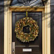 "National Tree Company 24"" Glittery Bristle Pine Wreath - Clear"