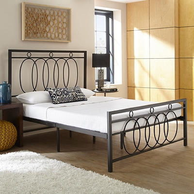 Contour Rest Nathalie Queen-Size Metal Platform Bed Frame - Black